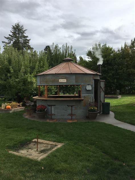 grain bin patio backyard decor backyard country garden