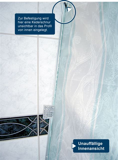 Duschvorhang An Wand Befestigen 4604 by Duschgut Abschlussleisten Zur Befestigung Ihres