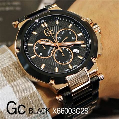 Gc Guess Collection Black 1 gc guess collection s chronograph black pvd bracelet 44mm x66003g2s fresh