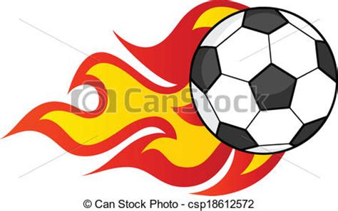 Free Clipart Flaming Soccer by Flaming Soccer Illustration Isolated On White