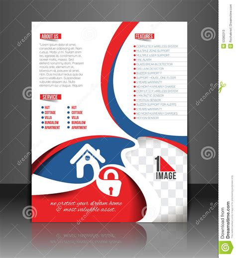 home security center stock vector image 53382213