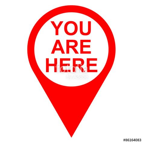 quot icono texto you are here localizacion rojo quot stock photo