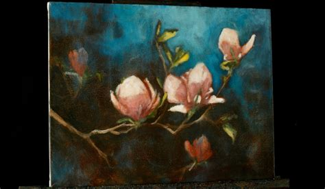 acrylic painting how to impressionist magnolias an acrylic painting
