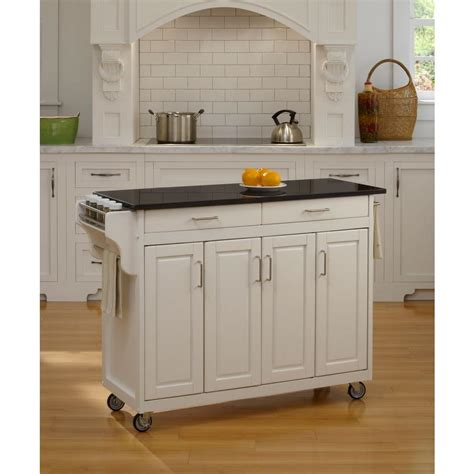home styles large kitchen cart red black granite top home styles create a cart white kitchen cart with black