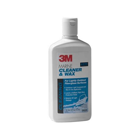 boat cleaner polish 3m marine 9009 fiberglass cleaner and wax 16 oz