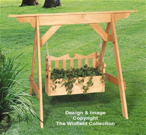 trace bundy porch swing planter woodworking plans swing set planter plans
