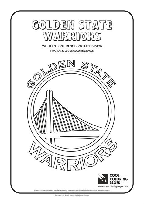 coloring pages nba team logos golden state warriors free colouring pages