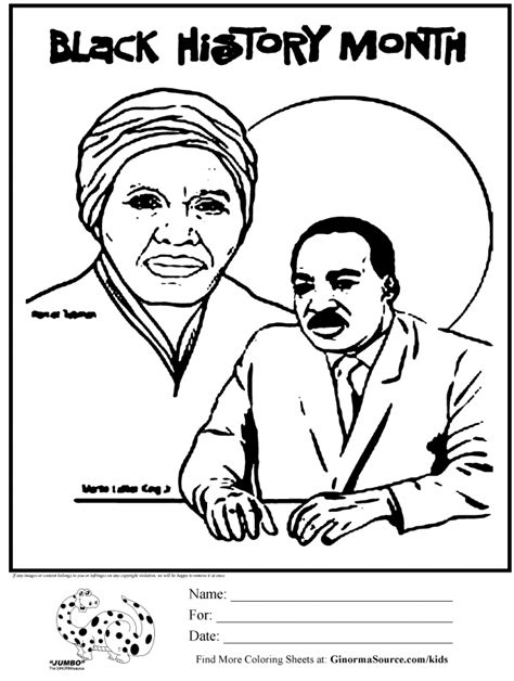 coloring pages black history free black history month coloring pages for kids coloring home