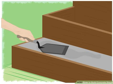 the best way to build concrete steps wikihow