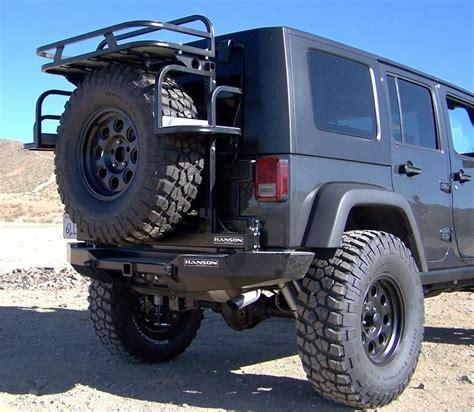 Rear Cargo Rack For Jeep Wrangler Jeep Cargo Rack Hanson Offroad Jk Rear Spindle Bumper