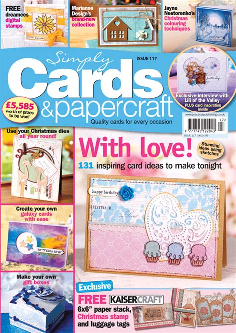 Cards And Papercraft Magazine - simply cards papercraft 117 on sale now