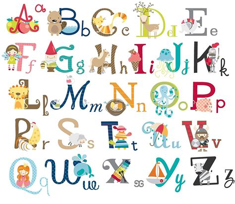 alphabet wall decals for nursery big graphic alphabet letters room nursery wall decal