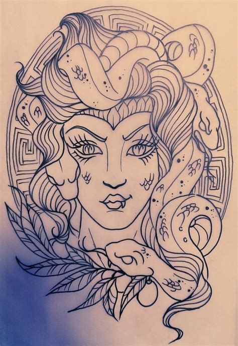 rebeccarey medusa sketch medusa tattoo sketch custom