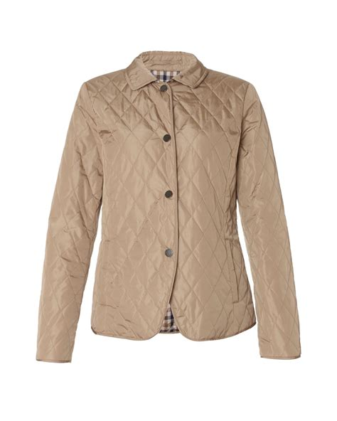 aquascutum quilted jacket in beige lyst