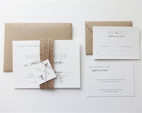 earth themed wedding invitations earth burlap wedding invitation rustic by
