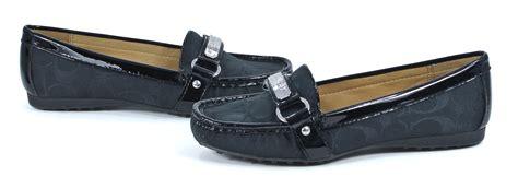 black coach loafers coach signature felisha black loafers slip on shoes 11 new