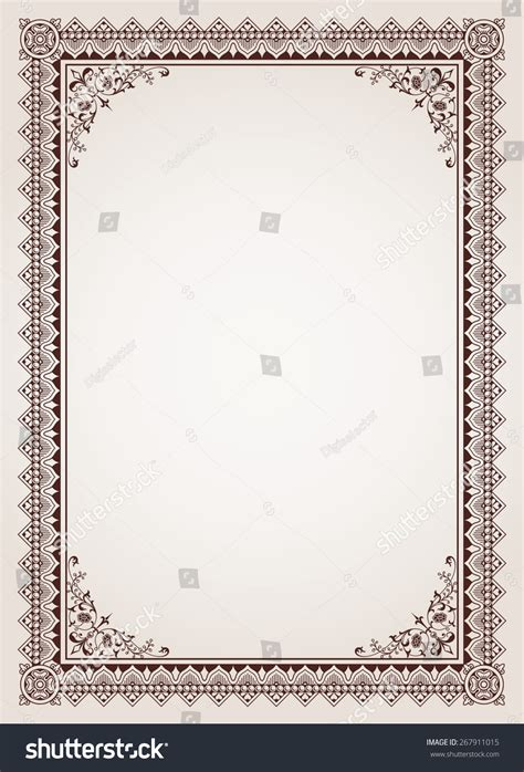 ornate certificate template vector free vector 4vector decorative border frame background certificate template