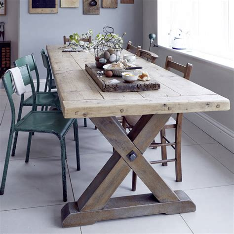 country breakfast table dining ideas image reclaimed timber country dining table by home barn