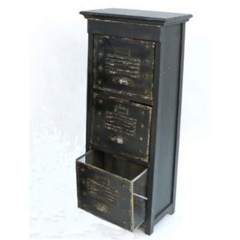 schubladen metall kommode vintage mit 3 schubladen retro antik holz metall