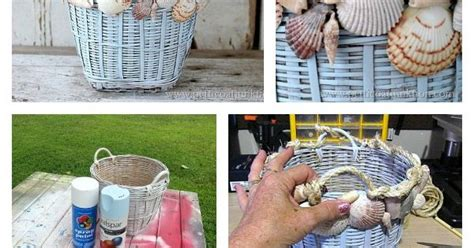 how to decorate with seashells basket craft petticoat seashell home decor beaches rope basket and beach house