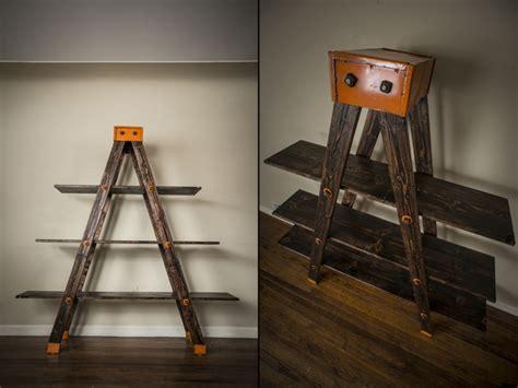 a frame ladder shelf by anton maka designs 187 retail design