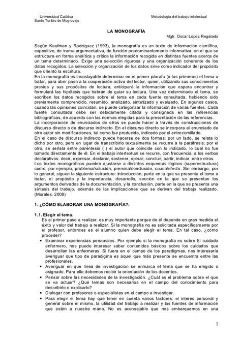 ejemplo de monografia estructura formal de la monograf 237 a