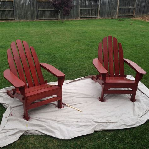pop  red painted adirondack chairs bright green