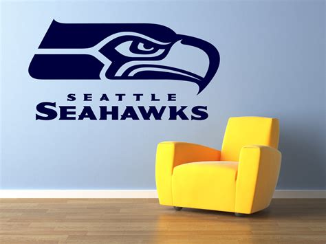 Seahawks Decor by Seattle Seahawks Premium Removable Wall Decor By