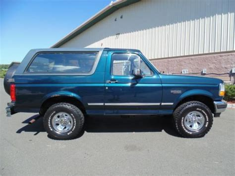automobile air conditioning repair 1995 ford bronco seat position control purchase used 1995 ford bronco xlt 4x4 low reserve in neptune new jersey united states