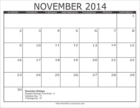 printable monthly calendar for november 2014 2014 free printable calendars free printable calendars