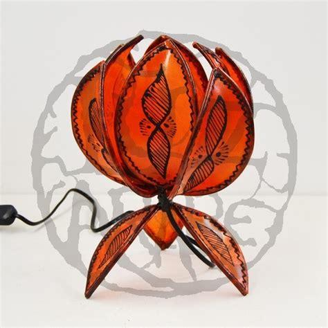 Acheter Fleur De Lotus by Acheter Le De Table Forme Fleur De Lotus De Cuir Peint