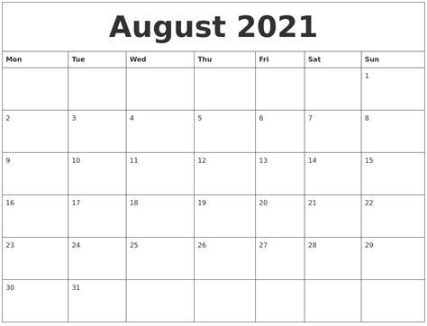 customized calendar template august 2021 custom calendar printing