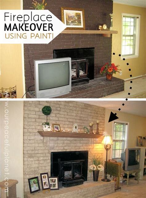 Change Color Of Brick Fireplace by How To Do An Easy Inexpensive Dramatic Fireplace