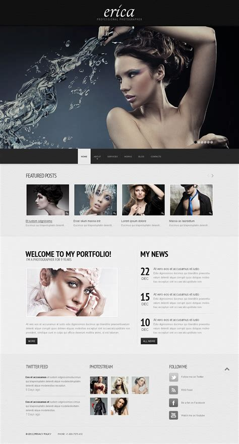 Erica Wix Website Template 46254 Wix Website Templates Reviews