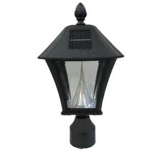 solar post lights home depot gama sonic baytown solar black outdoor post light with