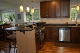 U Shaped Kitchen Designs With Breakfast Bar stools divided inside and outside in u layout but maximum 6 people can