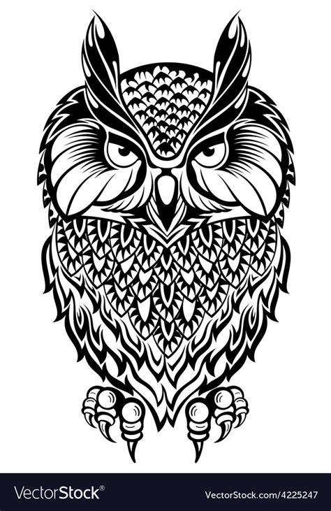 owl royalty free vector image vectorstock