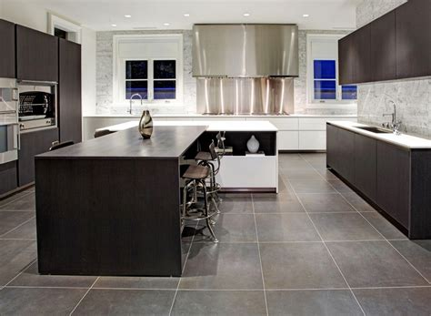 Gray Tile Kitchen Floor Interior Design Center Inspiration