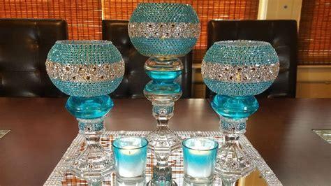 centerpiece ideas: DIY glamorous candleholder centerpiece