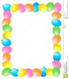 balloon border template free balloons border frame stock vector image of edge
