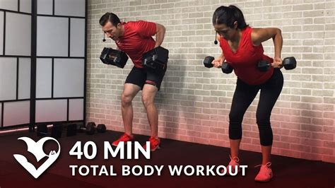 40 min total workout with weights dumbbell