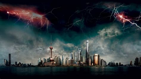 wallpaper geostorm shanghai   movies