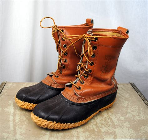 mens rubber duck boots vintage sorel duck boots size 8 mens leather and rubber
