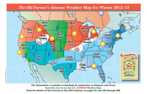 us weather map map promotional weather maps from the farmer s almanac