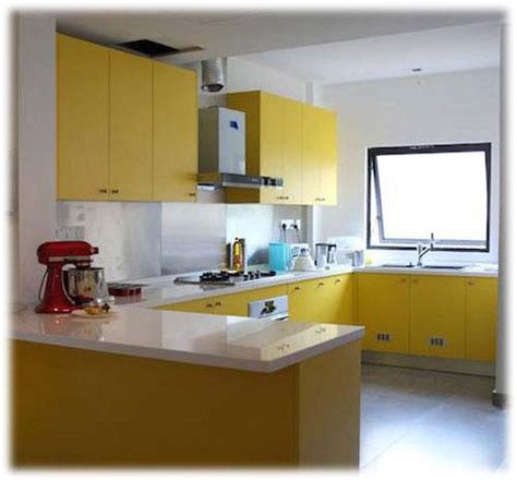 yellow kitchens with cabinets u shape kitchen cabinets interior home design home