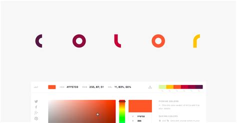 flat design color chart html color codes