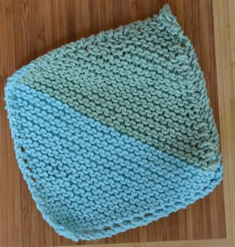 how to knit a washcloth two tone bias knit washcloth knitting