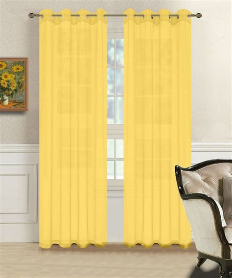 bright yellow sheer curtains warm home designs 1 pair of yellow voile sheer window