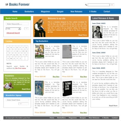 Books Forever Template Free Website Templates In Css Html Js Format For Free Download 61 58kb Free Website Templates For Book Publishing