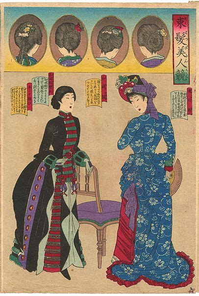 style guide influence of japan westerns fashion prints and meiji era on pinterest